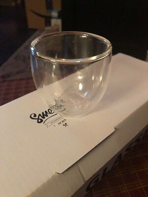 Glass Double Wall Espresso Cups- Set Of 4  - New