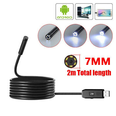 7mm Endoscope Waterproof USB Inspection Camera 6 LED for OTG Smart Phone Healthy