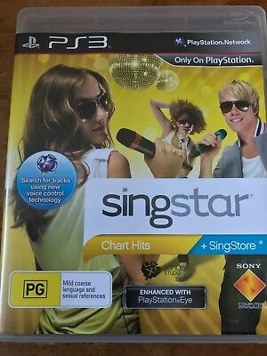 Singstar Chart Hits Ps3 Sony Playstation 3 Original Aus Pal Sing Star Complete