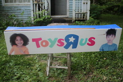 Toys r us sign 47 7/8 by 10 1/2 inches long, true collectables display sign