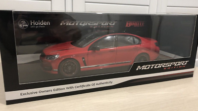 MOTORSPORT Owners Edition 1:18 Biante 2017 Holden VF2 Commodore SSV REDLINE VF