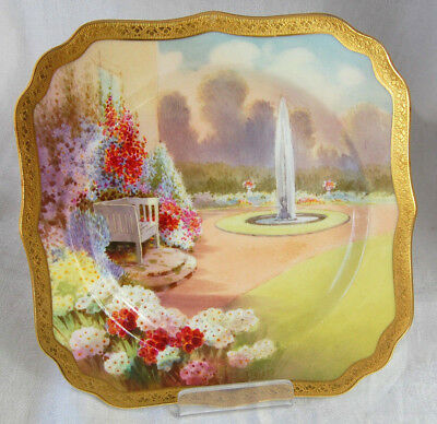 Royal Doulton Hand Painted Plate Signed John Price, Garden Series, 1920's.