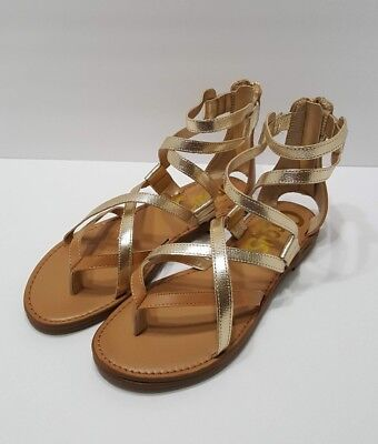 2c22086fabc993 Circus by Sam Edelman Women s Bevin Flat Sandal Gold   Brown Size 6 New  Sandals