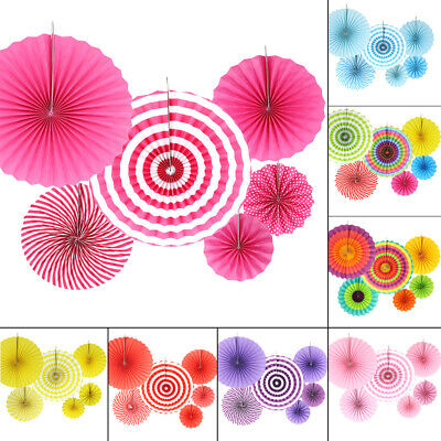 6x Paper Fan Flowers Wedding Birthday Party Tissue Paper Table Decor UK Seller