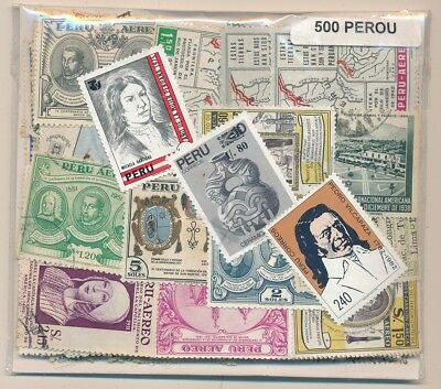 Peru Package 500 stamps different