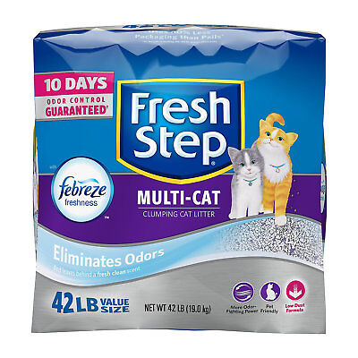 Fresh Step Scented Litter with the Power of Febreze Clumping Multi-Cat Litter