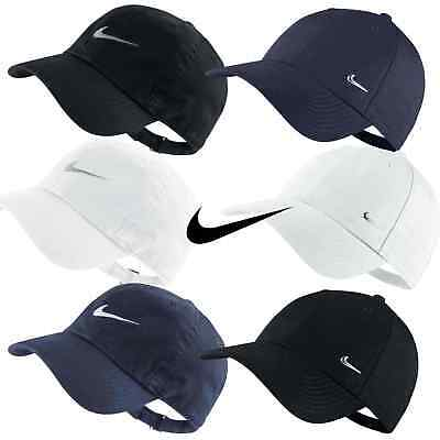 Nike Mens Swoosh Metal Sports Cap Baseball Golf Adjustbale Hat Black White Navy