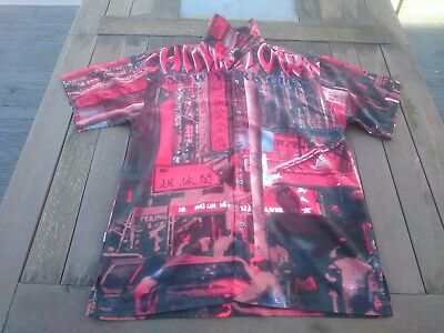 Mens vintage shirt size L New York Chinatown