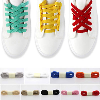Thick Flat Wide Athletic 120cm Running Tennis Shoe Lace Shoelaces Sneaker String