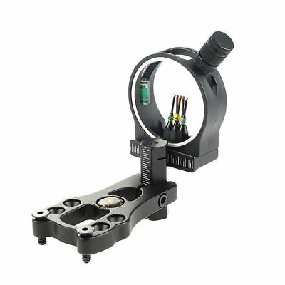 Adjustable Compound Bow Sight 5 Pin Light Optic Durable Bright fiber Wrapped Pin