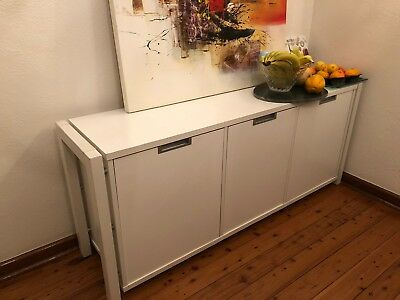 Freedom Furniture Sideboard/Buffet 3 Doors White 6 adjustable compartments