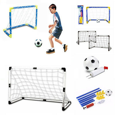 Inflatable Football Soccer Goal Post Net Set Kids Indoor Outdoor Games Toys Beam