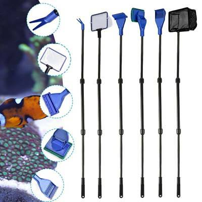 Fish Tank Aquarium Cleaning Kit Glass Brush Fishnet Magnetic Cleaner Tools 6 in1