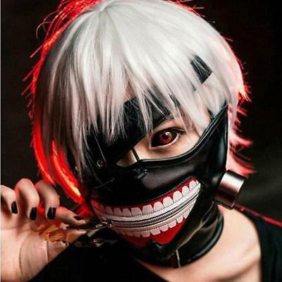 Cosplay Tokyo Ghoul Kaneki Ken Adjustable Zipper Halloween Party Prop Mask DE