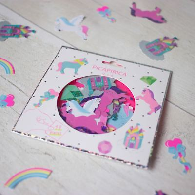 Unicorn Sticker Pack 48 Mini Stickers Hologram and Neon Rainbows Castles