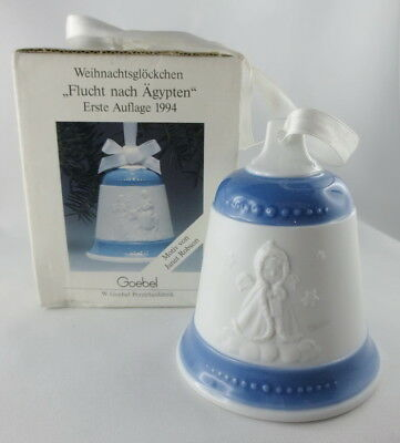 Goebel Porzellan Glocke 1994 Flight into Egypt Christmas Bell