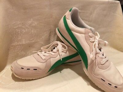 98f2532b074ef2 Men s Classic Puma Tennis  Sneakers shoes size 13 Nylon   Suede White Green