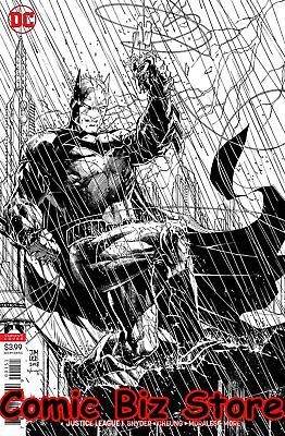 Justice League #1 (2018) 1St Print Jim Lee Inks Only Variant Cover Dc Universe