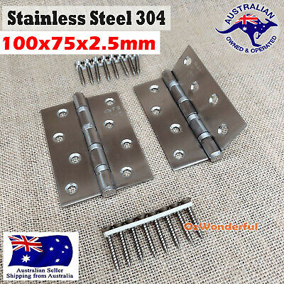 STAINLESS STEEL DOOR HINGES 304 grade 97 x 70 x 2mm BUTT HINGE Heavy duty