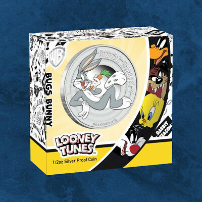Tuvalu - Looney Tunes - BUGS BUNNY - 0,5 $ 2018 PP - Silber - Proof