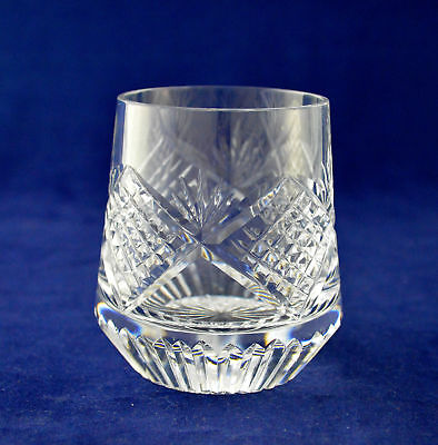 "Tyrone Crystal ""SLIEVE DONARD"" Roly Poly Whiskey Glass – 8.3cms (3-1/4″) Tall"