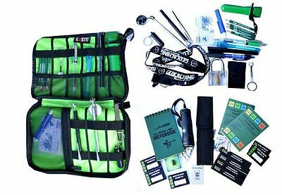 67 Pc Geocaching Beginners Set UV Mirror Magnetic Lifter Logbooks Tube Starter