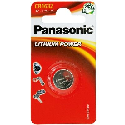 1 x Panasonic CR1632 ECR1632 DL1632 3v Lithium Battery Free 1st class P&P