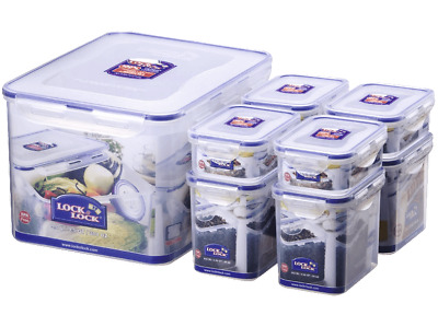 Lock&Lock - 8 Cans Set hpl838sa Geocaching Hideout Freezer Container Storage Jar