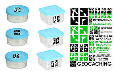 Large Container Set with Geocaching Stickers