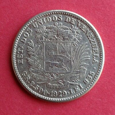 Venezuela 50 Centimos - Real - 1929 VF