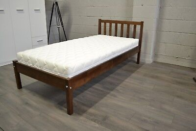 The best on eBay! Deluxe! Thick, strong, solid walnut single 3FT bed Berno!