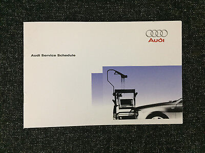 AUDI SERVICE BOOK BRAND NEW FOR ALL MODELS PETROL & DIESEL tdi tfsi a1 a2 a3 a4