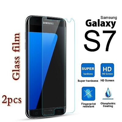 2X Samsung Galaxy S7 Tempered Glass Plastic Screen Protector Guard Film