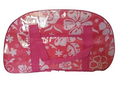 Beach Bag Shopping Bag Very Strong Plastic Coated Carrying Bag Pink
