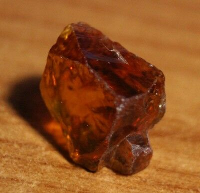 13.24ct Madeira Citrine Crystal Point - Flawless Lapidary / Specimen Rough