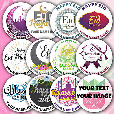 Ramadan Eid Mubarak personalised stickers em8 Happy Eid