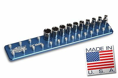 1/4'' Metric Billet Socket Organizer Tool Holder Tray