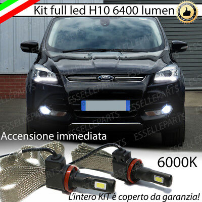Kit Full Led Ford Kuga Mk2 Lampade H10 Fendinebbia Canbus 6400L 6000K No Error
