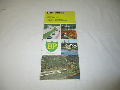1972 BP oil gas company road map