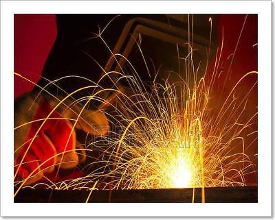 Welding With Sparks Art Print Home Decor Wall Art Poster - E