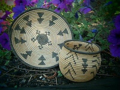 Two Apaches Indian Baskets