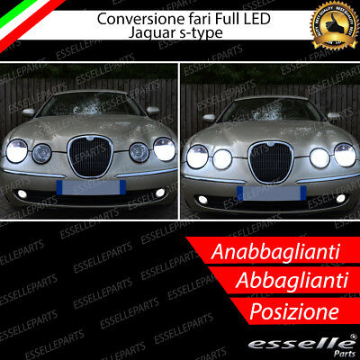 Kit Fari Full Led Jaguar S-Type Anabbaglianti Abbaglianti Canbus 6000K No Error