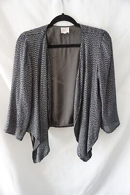 2695ac5c1 KABUKI Tracy Thomson Black Velvet Poncho Evening Cape OSFM. $86.00 Buy It  Now 13h 58m. See Details. PARKER Pewter Beaded Evening Work Cocktail Cape  Jacket ...