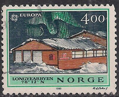 Norway 1990 400c Europa used stamp ( E1321 )
