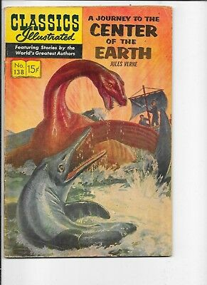 Classics Illustrated  #138  hrn 156  A Journey to the Center of the Earth