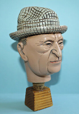 Alter ACHATIT Zierkorken Adenauer Figur / Flaschenkorken / Bottle Stopper Head