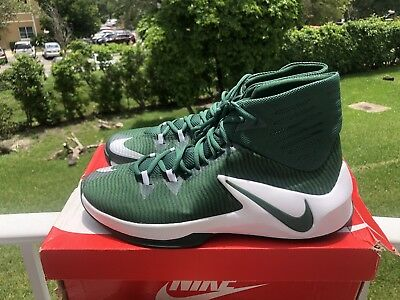 6b6040ab6f37 Nike Zoom Clear Out Green White Basketball Shoes Size 11.5 Mens  110 Msrp