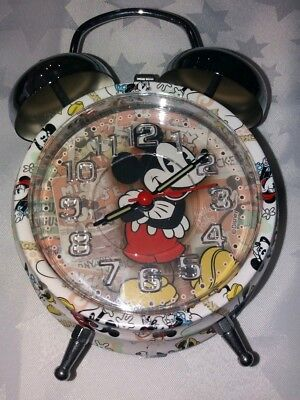 Mickey Mouse alarm clock (battery operated) with bell, music and lights