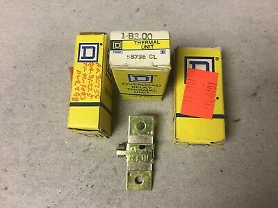 Square D B3.00 Overload Relay Thermal Unit-Lot Of 3 NIB