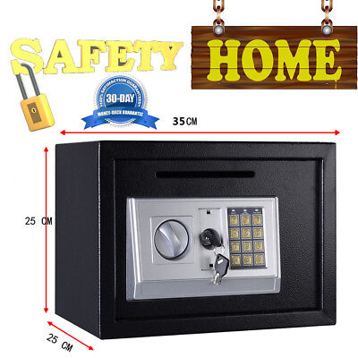 Digital safe box Fire Proof Valuables Secret Home Jewellery Gold Security Safety
